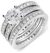 Thumbnail for your product : Sterling Forever Silver Cz 3Pc Ring Set