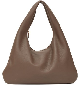 The Row Everyday Grained-leather Shoulder Bag - Brown