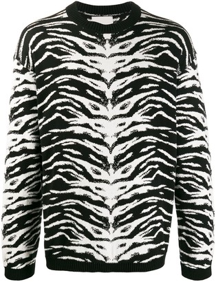 Laneus Animalier intarsia relaxed-fit jumper