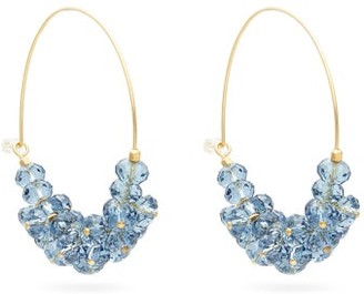 Isabel Marant Bead-embellished Hoop Earrings - Womens - Blue