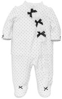 Little Me Infant Girls' Polka Dot Velour Footie - Sizes 3-9 Months