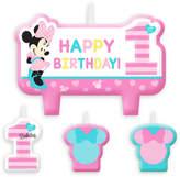 Disney Minnie Mouse 1st Birthday Candle Set