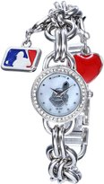 Game Time Women's MLB-CHM-CLE Charm MLB Series 3-Hand Analog Watch