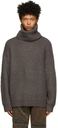 A. A. Spectrum Grey Turtleneck Sweater