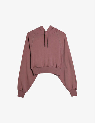 Topshop Bubble-hem cotton hoody