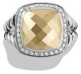 David Yurman Albion Ring with Diamonds and 18K Gold
