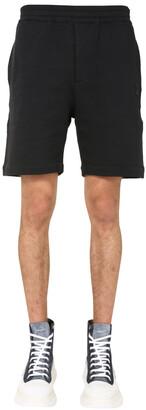 Alexander McQueen Skull Embroidered Track Shorts