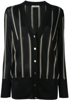 Lanvin striped knitted cardigan - women - Viscose - S