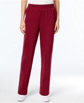 Karen Scott Petite Pull-On Fleece Pants, Only at Macy's
