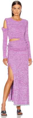 CHRISTOPHER ESBER Deconstruct Knit Dress in Lilac | FWRD