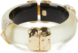 Alexis Bittar Pave Twist Sectioned Hinge Bracelet