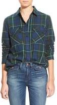 Madewell Women's Ex Boyfriend - Ontario Plaid Flannel Shirt
