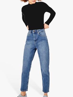 Oasis Monroe Mom Jeans, Blue