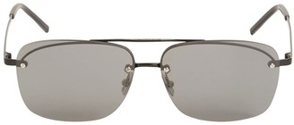 Saint Laurent Sl 417 Square Metal Sunglasses
