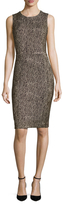 Three Dots Bryce Animal Print Sheath Dress