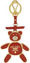 Prada Red and Gold Teddy Bear Keychain