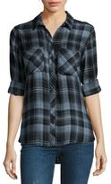 Bella Dahl Plaid Button-Down Top