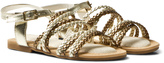 Stuart Weitzman Gold And Silver Strappy Sandal