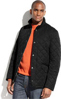 Perry Ellis Jacket, Quilted Corduroy-Collar Performance Jacket