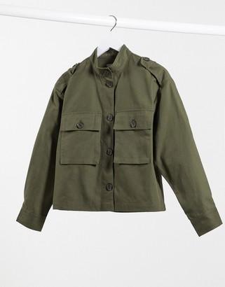Pimkie lightweight jacket in khaki