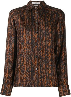 Bally Abstract Print Classic Collar Shirt