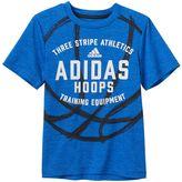 adidas Boys 4-7x climalite Sports Logo Tee