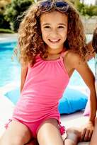 Next Girls Pink Textured Swimsuit (3-16yrs) - Pink