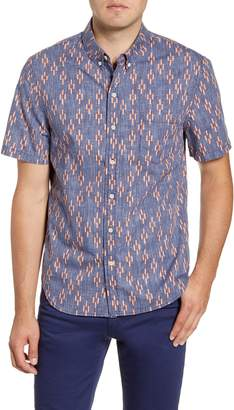 Reyn Spooner Naha Kasuri Tailored Fit Short Sleeve Button-Down Shirt