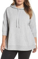 Plus Size Women's Caslon Mixed Media Hoodie