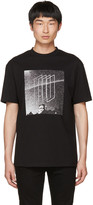 McQ by Alexander McQueen Black Dropped Shoulder Graphic T-shirt