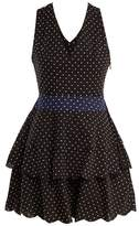 Marysia Swim Cross-back polka-dot cotton dress