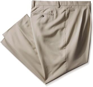 Cutter & Buck Men's Big-Tall Twill Microfiber Pleated Pant Unhemmed