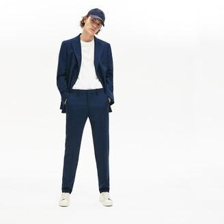 Lacoste Men's LIVE Fine Pinstriped Wool Suit Pants
