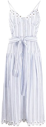 MICHAEL Michael Kors Striped Cotton Midi Dress