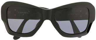 Chanel Pre Owned Oversized Sunglasses