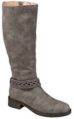 Journee Collection Paisley Boot - Wide Calf (Brown) Women's Shoes