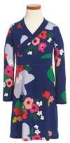 Tea Collection Toddler Girl's Scotland Garden Wrap Neck Dress