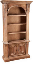 AA Importing Geneva Arch-Top Bookcase, Natural