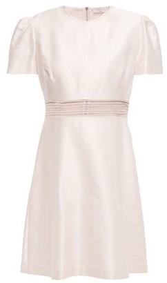 Sandro Lauralie Lace-trimmed Cotton-blend Satin-twill Mini Dress
