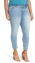 Lucky Brand 'Georgia' Distressed Boyfriend Jeans (Ocean Side) (Plus Size)