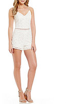 Lovers + Friends Songbird V-Neck Lace Romper