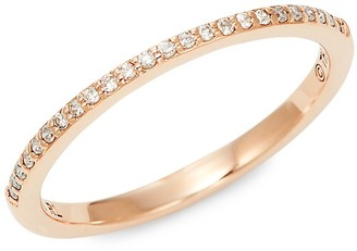 Saks Fifth Avenue 14K Rose Gold Diamond Band