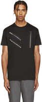 DSQUARED2 Black Zips Cool-Fit T-Shirt