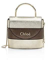 Chloé Women's Small Aby Metallic Leather Top Handle Bag