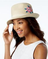 INC International Concepts Embroidered Panama Hat, Created for Macy's