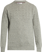 Brunello Cucinelli Half cable-knit wool-blend sweater