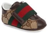 Gucci Infant Boy's 'Icon' Crib Shoe