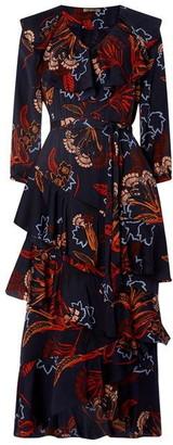 Biba Ruffle Front Midi Dress