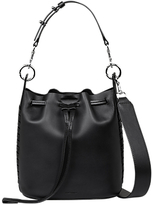 AllSaints Ray Leather Small Bucket Bag, Black