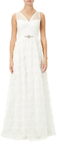 Adrianna Papell Sleeveless Tulle Chiffon Bridal Gown, Ivory